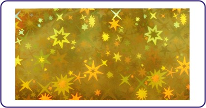Transferfolie Gold Sterne