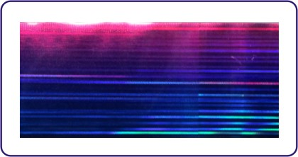 Transferfolie Blau Pink rainbow