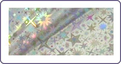 Transferfolie silberne Sterne