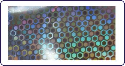 Transferfolie Silber big dots