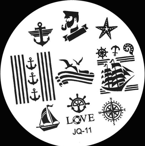 Stamping Schablone JQ-11