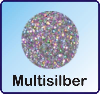 Glitter Nachfüllbeutel Multisilber 3g