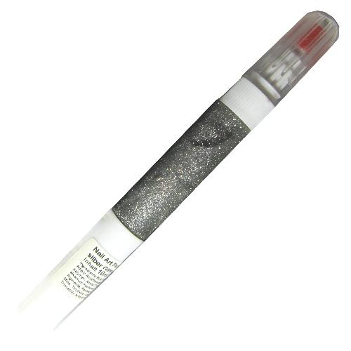 Nail Art Pen silber Glitter 10ml