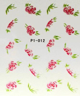 Wasserlösliche Sticker Blumen P1-012