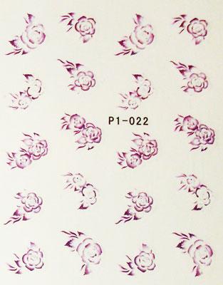 Wasserlösliche Sticker Blumen P1-022