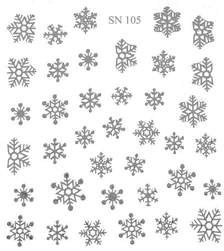 Sticker Schneeflocken grau