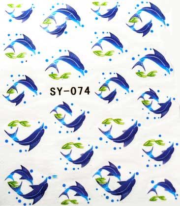 Wasserlösliche Sticker Delphine SY-074