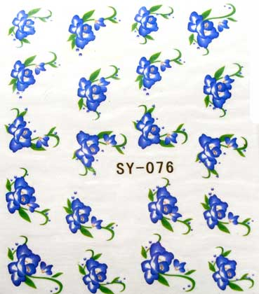 Wasserlösliche Sticker Blumen SY-076