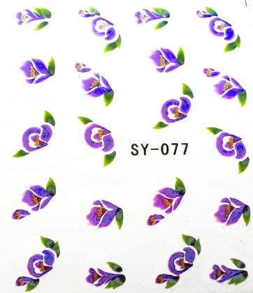 Wasserlösliche Sticker Blumen SY-077