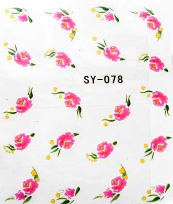 Wasserlösliche Sticker Blumen SY-078