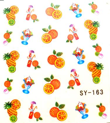 Wasserlösliche Sticker Früchte SY-163