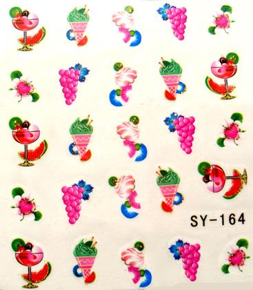 Wasserlösliche Sticker Cocktail SY-164