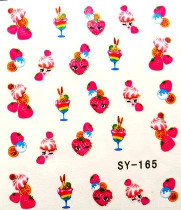 Wasserlösliche Sticker Cocktail SY-165