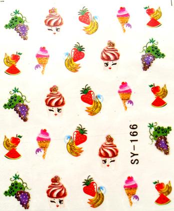 Wasserlösliche Sticker ice cream SY-166