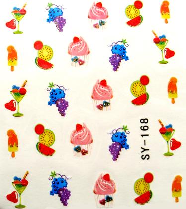 Wasserlösliche Sticker ice cream SY-168
