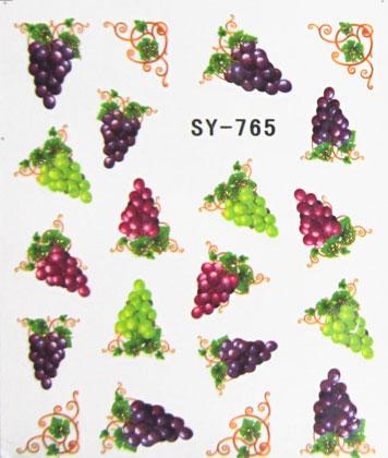 Wasserlösliche Sticker Weintrauben SY-765