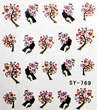 Wasserlösliche Sticker farbig SY-769