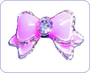 Overlay Schleife silber rosa