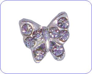 Overlay Schmetterling silber mit Strass