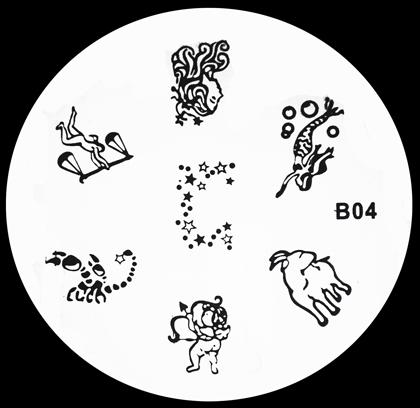Stamping Schablone B04