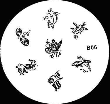 Stamping Schablone B06