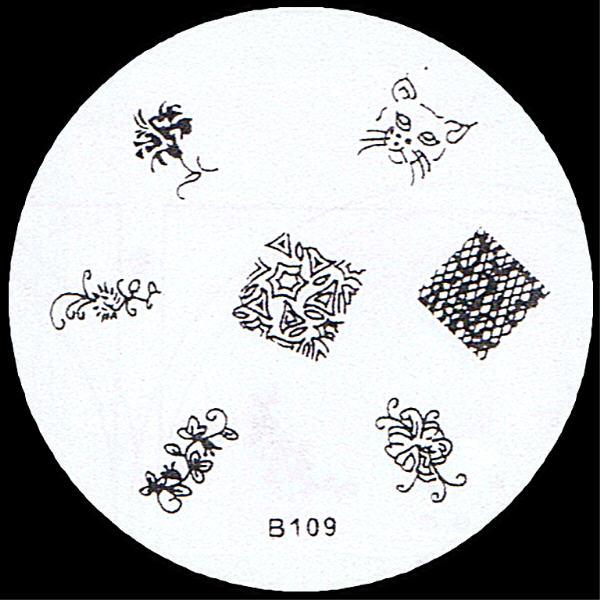 Stamping Schablone B109