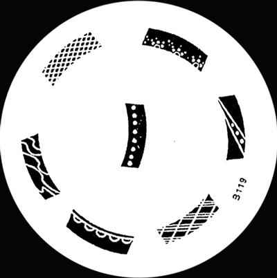 Stamping Schablone B119