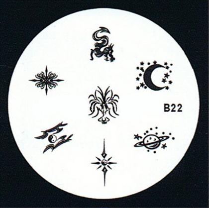 Stamping Schablone B22