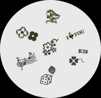 Stamping Schablone B39