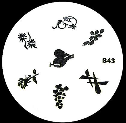 Stamping Schablone B43