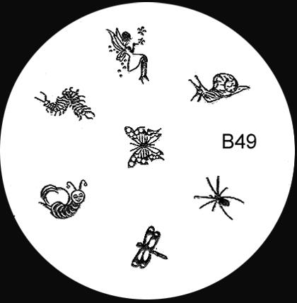Stamping Schablone B49