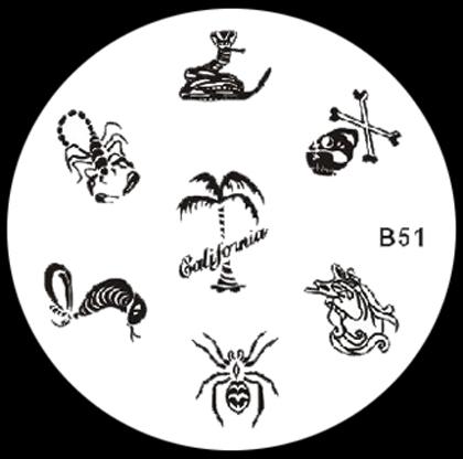 Stamping Schablone B51