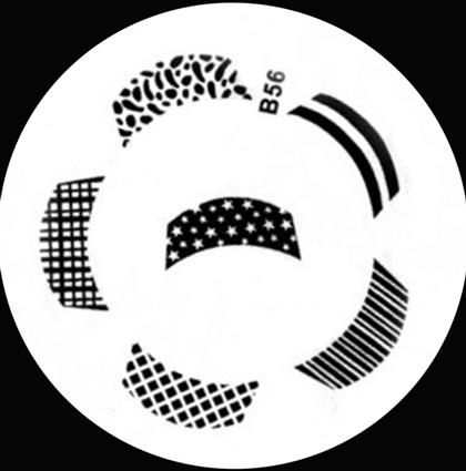 Stamping Schablone B56