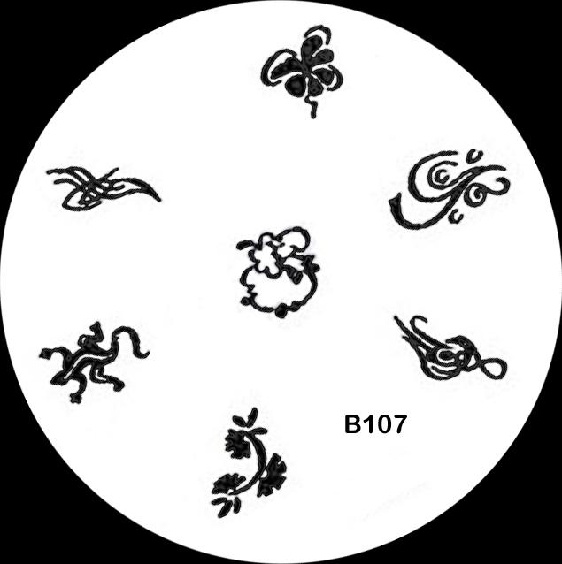 Stamping Schablone B107