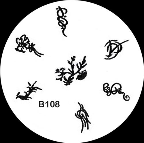 Stamping Schablone B108