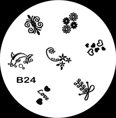 Stamping Schablone B24
