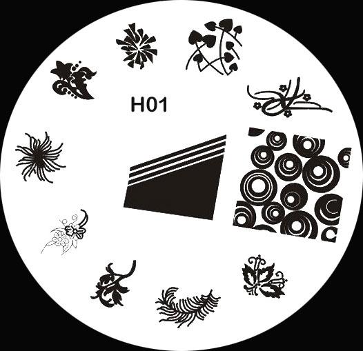 Stamping Schablone H01