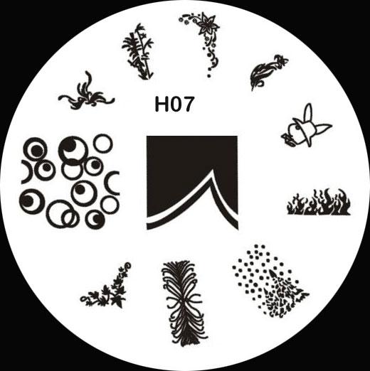 Stamping Schablone H07