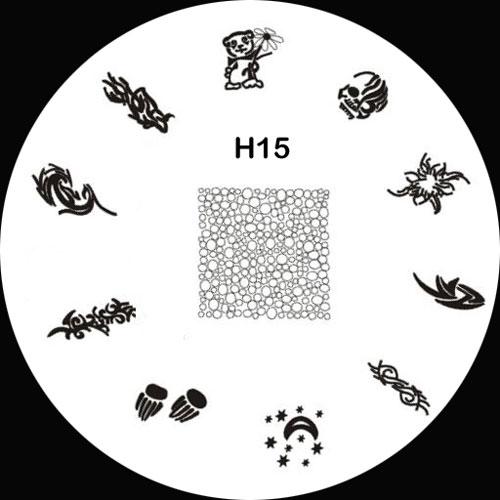 Stamping Schablone H15
