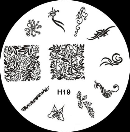 Stamping Schablone H19 Ornamente