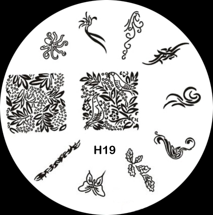 Stamping Schablone H19