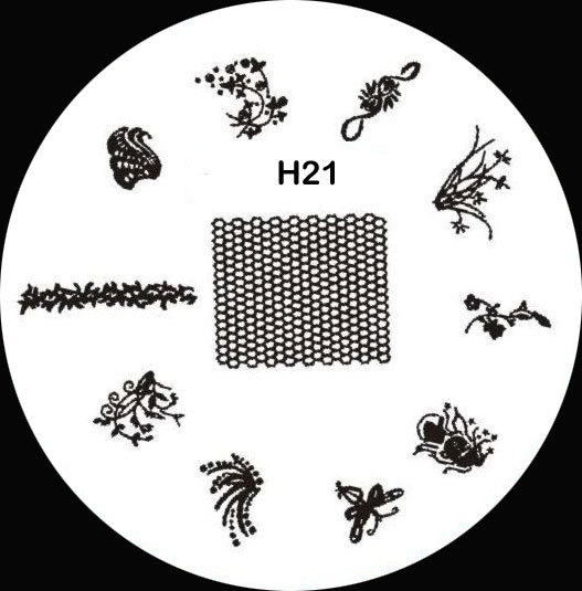 Stamping Schablone H21