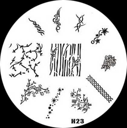 Stamping Schablone H23