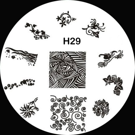 Stamping Schablone H29