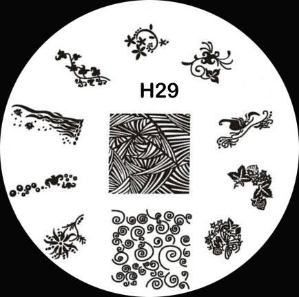 Stamping Schablone H29