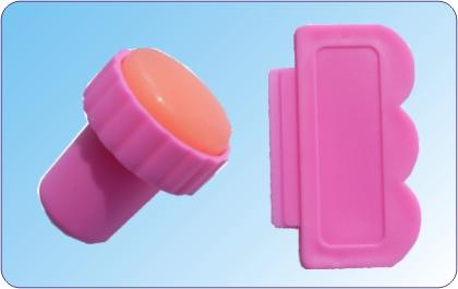 Stempel und Scrapper mit Plastik Klinge