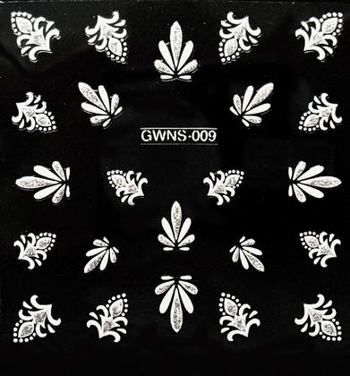Sticker 3D weiß GWNS-009