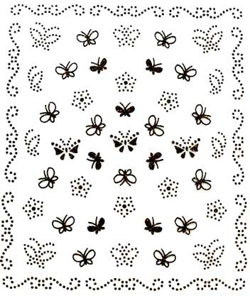 Sticker schwarze Schmetterlinge 8038