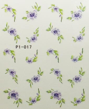 Wasserlösliche Sticker Blumen P1-017