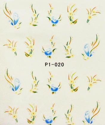 Wasserlösliche Sticker Blumen P1-020